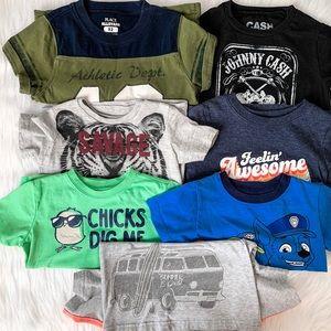 Bundle of 7 Toddler Boy T-shirts